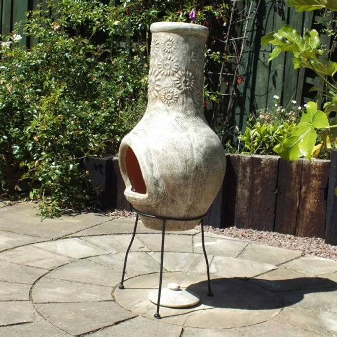 Click to view product details and reviews for Gardeco Morena Chimenea Stoney Flower Beige.