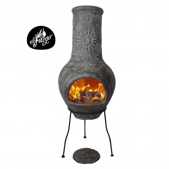 Click to view product details and reviews for Gardeco Morena Chimenea Stoney Flower Grey.
