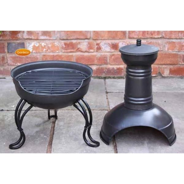 Superior Ohio Chiminea And BBQ Grill   2 Parts