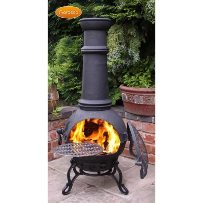 Toledo Smooth Cast Iron Chiminea - 2 Colours - 4 Size Options