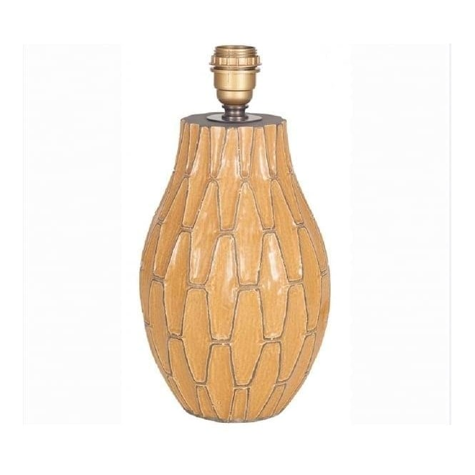 Click to view product details and reviews for Gaudi Mustard Ceramic Table Lamp Base 36cm.