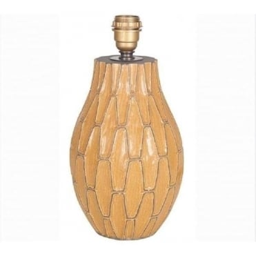 Gaudi Mustard Ceramic Table Lamp Base 36cm