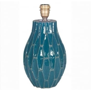 Gaudi Teal Ceramic Table Lamp Base 36cm