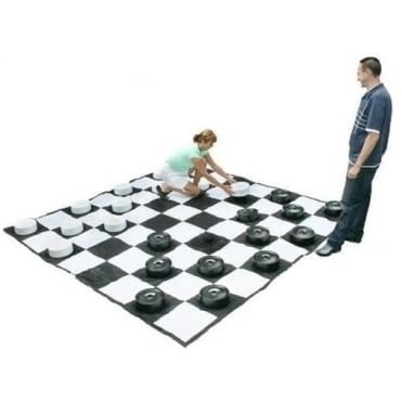 Giant Draughts set with Giant Draughts Mat
