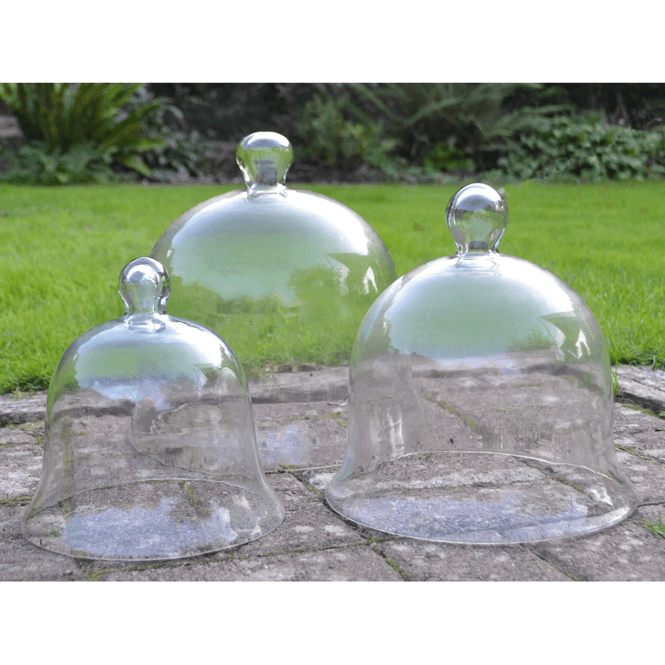 Click to view product details and reviews for Glass Bell Cloches – Set Of 3.