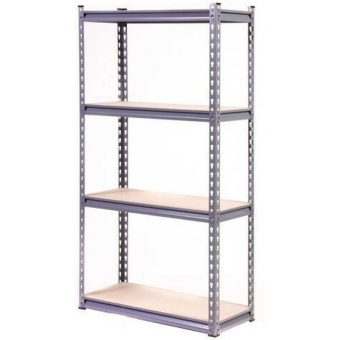 Globel Silver Heavy Duty 4 Tier Shelving Unit