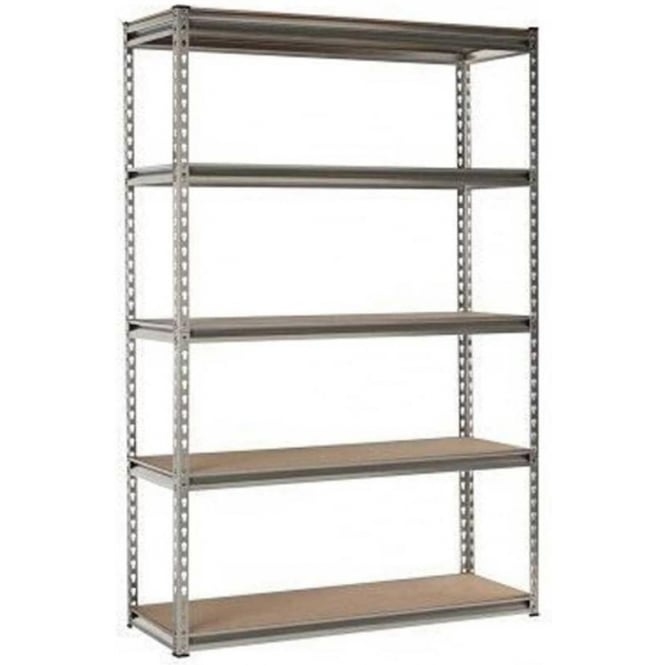 Globel Silver Heavy Duty Boltless 5 Tier Shelving Unit