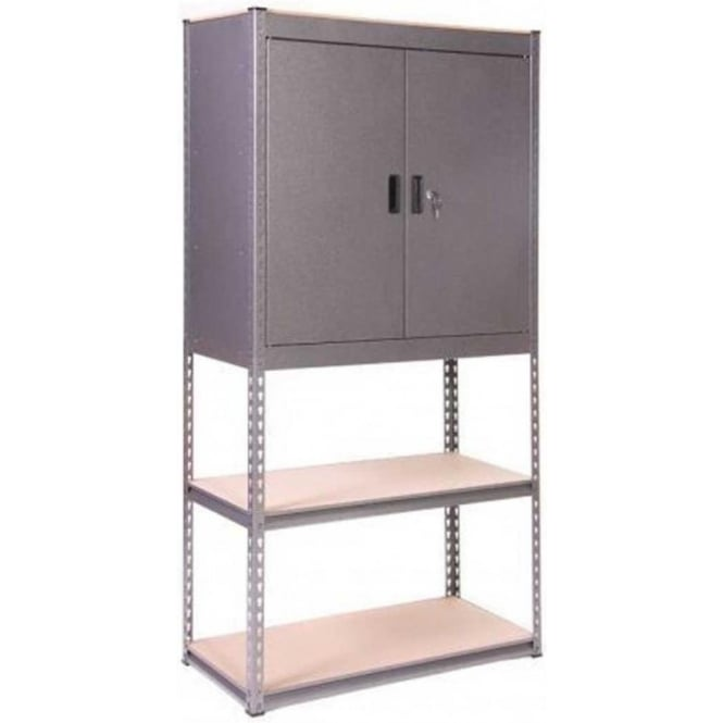 Globel Silver Vein Heavy Duty Half Cupboard Half Shelves Storage Unit