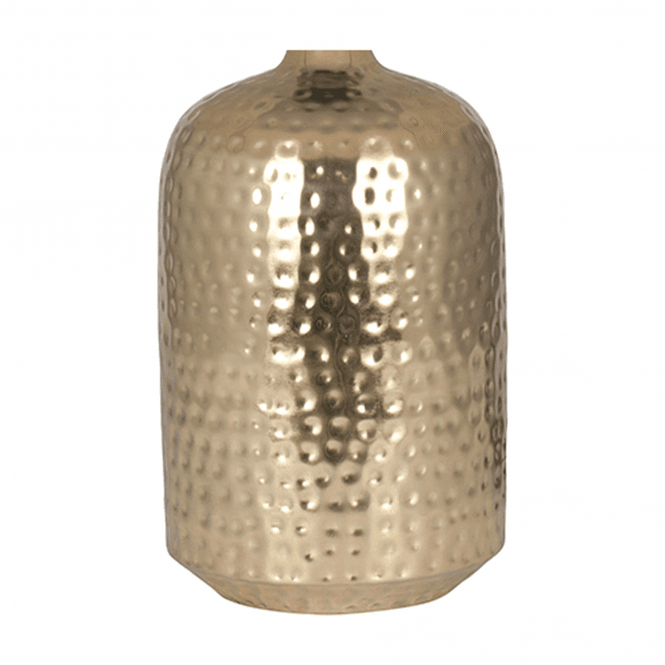 Gold Hammered Capsule Table Lamp