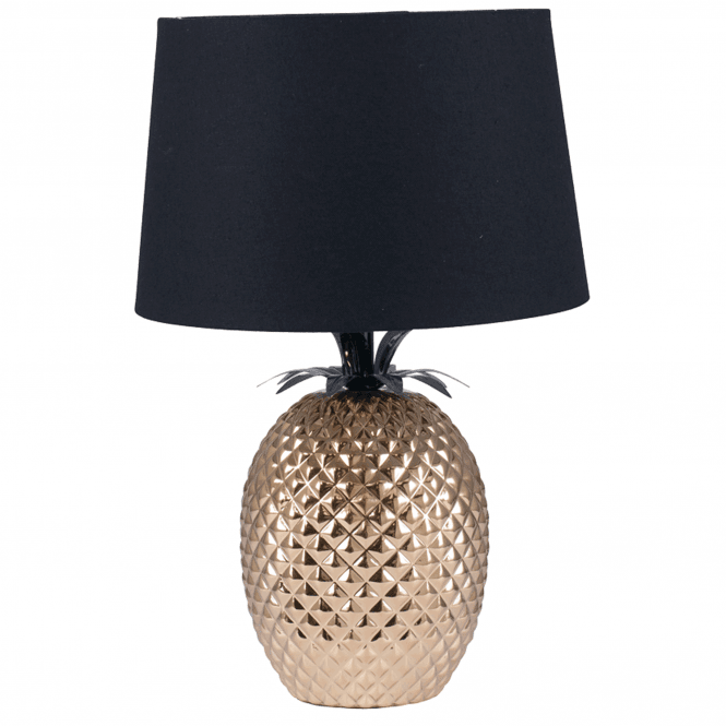 Click to view product details and reviews for Gold Pineapple Table Lamp And Black Shade.