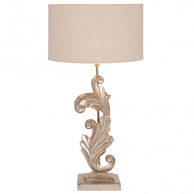 Click to view product details and reviews for Gold Scroll Sculptural Table Lamp.