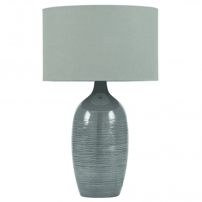 Graphite Scratched Ceramic Table Lamp
