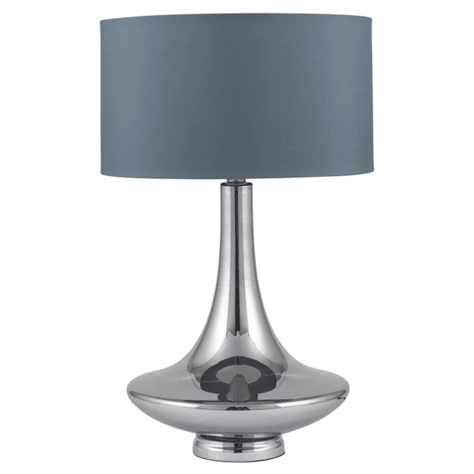 Grey Curved Glass Table Lamp