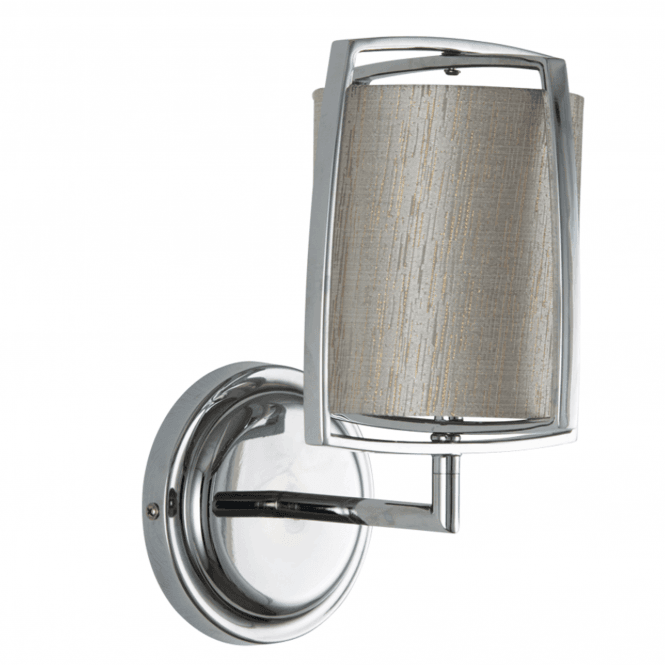 Grey Cylinder Shade With Metal Frame Wall Light