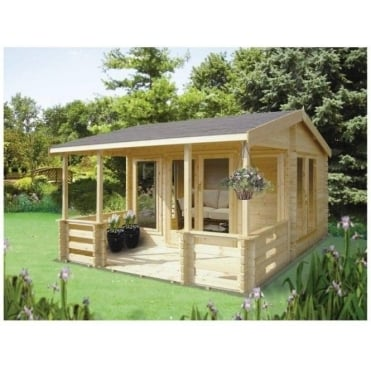 Guisborough Log Cabin includes Veranda