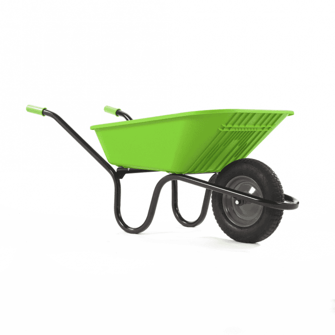 Haemmerlin Vibrante Go 90ltr Pneumatic Wheelbarrow Lime Green