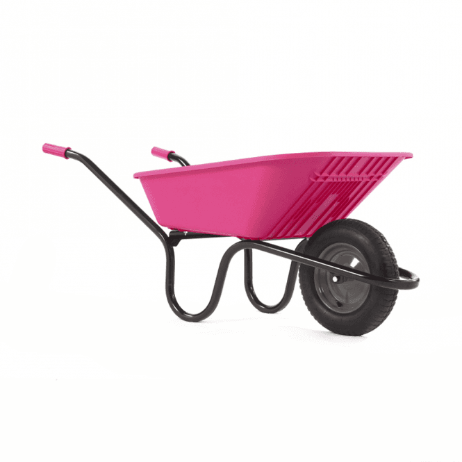 Click to view product details and reviews for Haemmerlin Vibrante Go 90ltr Pneumatic Wheelbarrow Pink.
