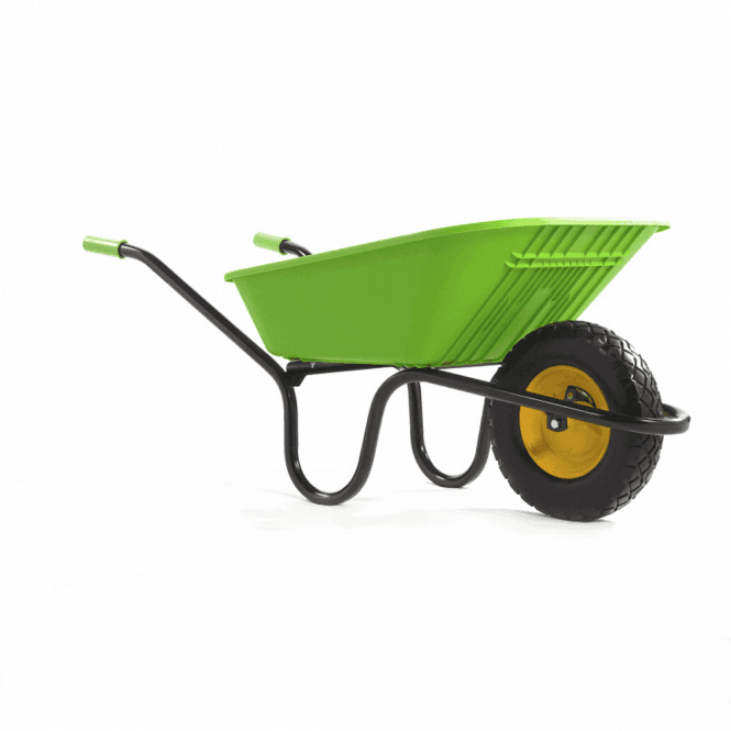 Click to view product details and reviews for Haemmerlin Vibrante Go 90ltr Puncture Free Wheelbarrow Lime Green.