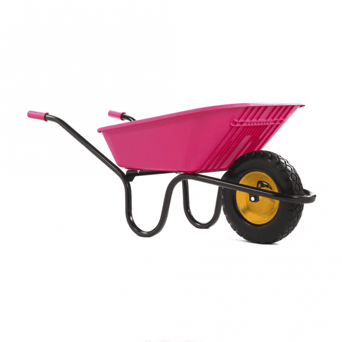 Haemmerlin Vibrante Go 90ltr Puncture Free Wheelbarrow Pink