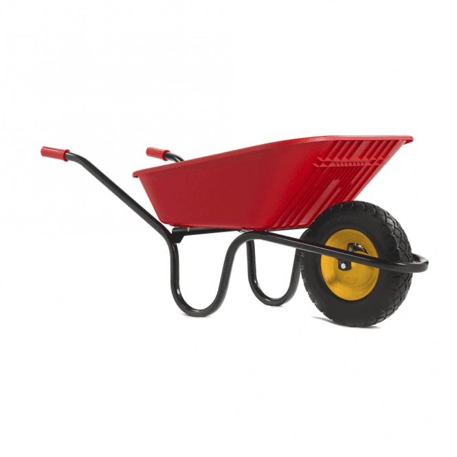 Click to view product details and reviews for Haemmerlin Vibrante Go 90ltr Puncture Free Wheelbarrow Red.