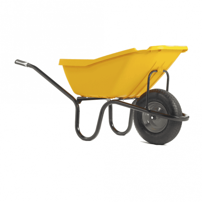 Click to view product details and reviews for Haemmerlin Vibrante Pick Up Yellow 110ltr Wheelbarrow.