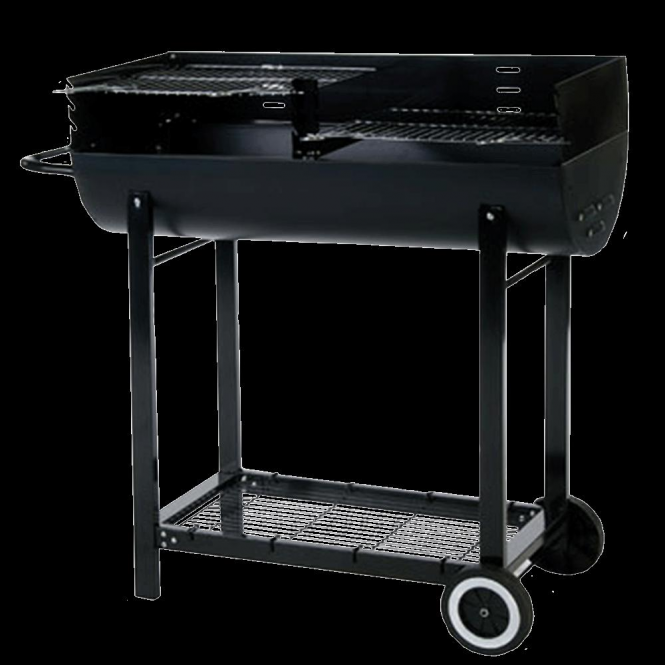 Click to view product details and reviews for Half Barrel Charcoal Bbq With Windshield.
