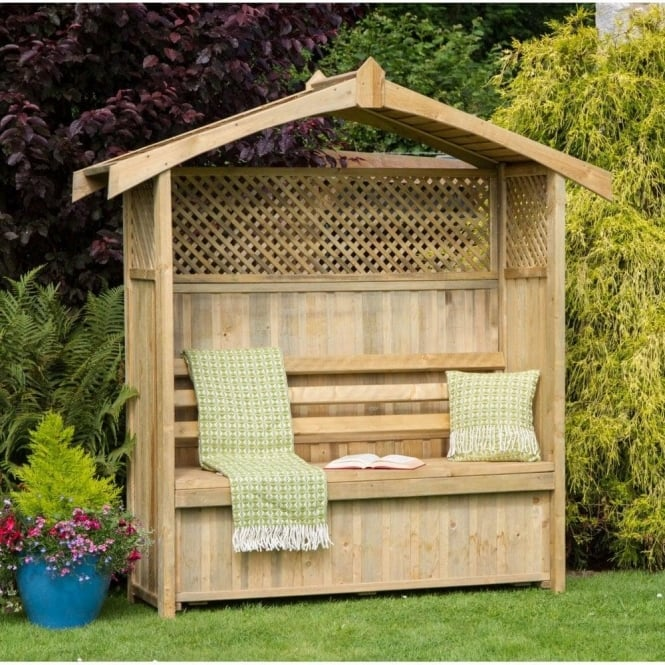Click to view product details and reviews for Hampshire Arbour With Storage Box.