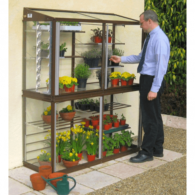 Click to view product details and reviews for Hampton 2 Tier Mini Aluminium Lean To Greenhouse 5ft.