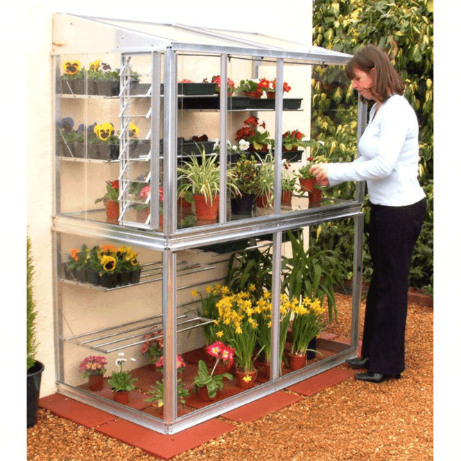Click to view product details and reviews for Hampton D 2 Tier Mini Aluminium Lean To Greenhouse 5ft.