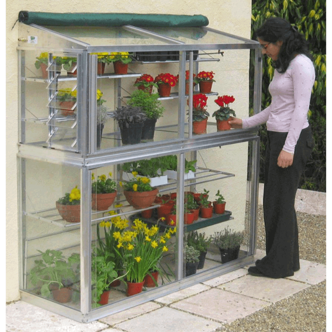 Click to view product details and reviews for Harewood 2 Tier Mini Aluminium Lean To Greenhouse 5ft.