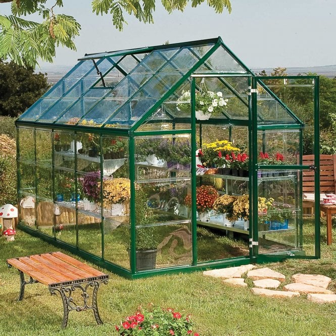 Click to view product details and reviews for Harmony 6ft X 10ft Greenhouse Green.