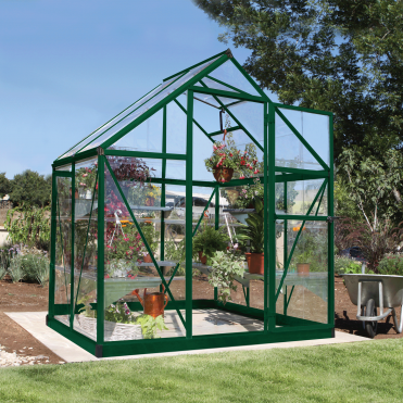 Harmony 6ft x 4ft Greenhouse - Green