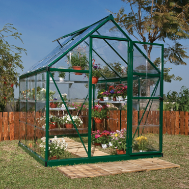 Harmony 6ft x 6ft Greenhouse - Green