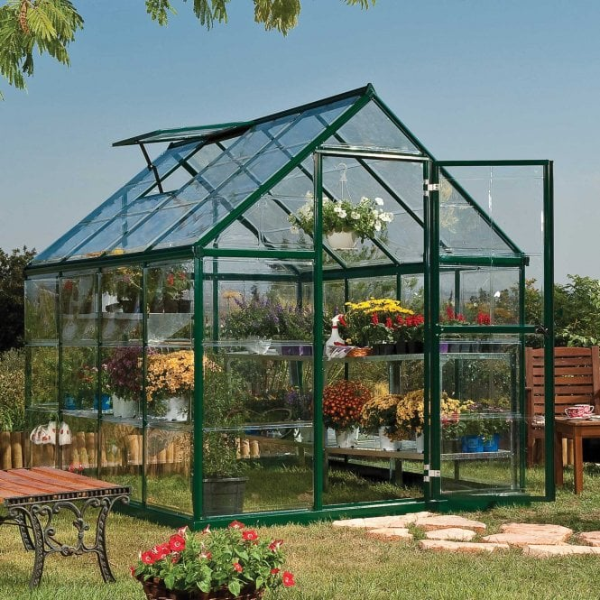Click to view product details and reviews for Harmony 6ft X 8ft Greenhouse Green.