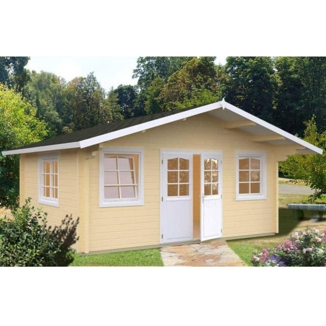 Helena 186m Sq Log Cabin With Double Glazing
