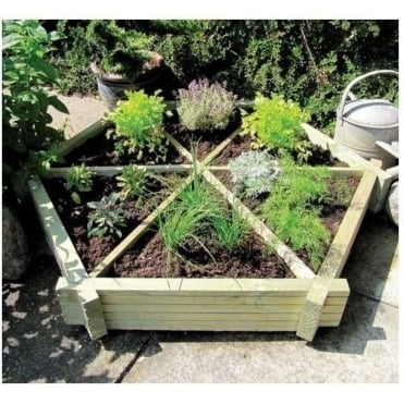 Herb Wheel Planter with 6 Growing Compartments