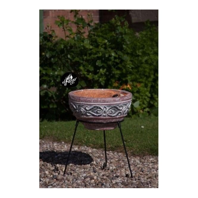 Hidalgo Small Clay Fire Pit Including Stand