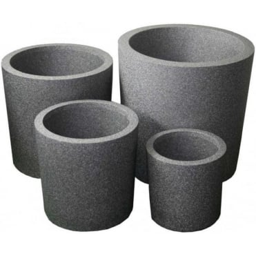 Iqbana Round Planter 4 Sizes Available in Grey