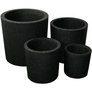 Iqbana Round Set of 4 Pots in Black