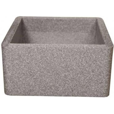 Iqbana Square Planter in Grey