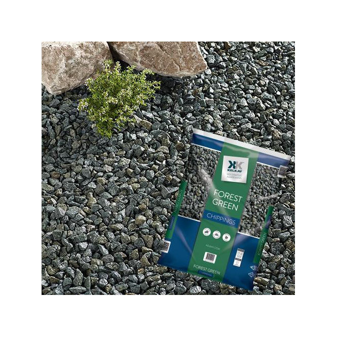 Click to view product details and reviews for Kelkay Forest Green Chippings Bulk Bag.