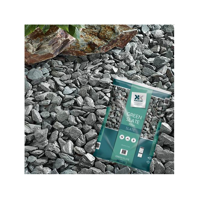 Click to view product details and reviews for Kelkay Green Slate 40mm Chippings Bulk Bag.