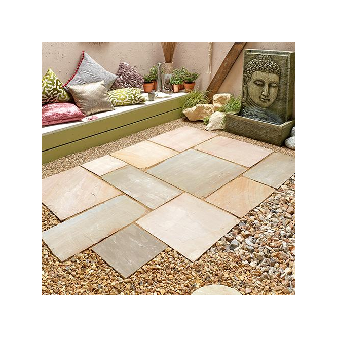 Click to view product details and reviews for Kelkay Natural Sandstone Patio Kit 102 M Sq.