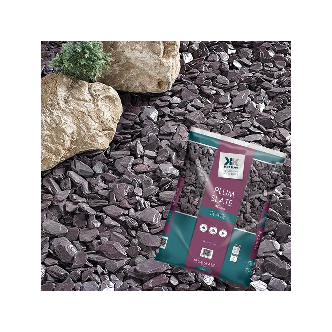 Plum Slate 40mm Chippings Bulk Bag