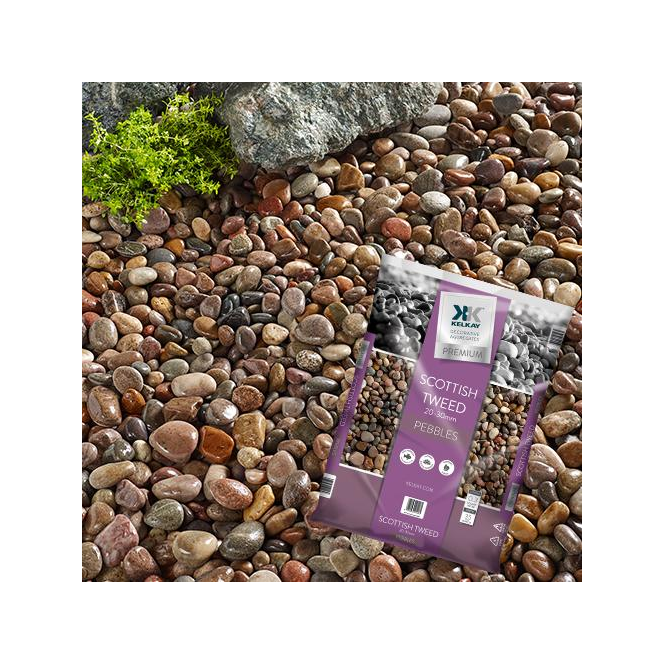 Click to view product details and reviews for Kelkay Premium Scottish Tweed Pebbles Bulk Bag.