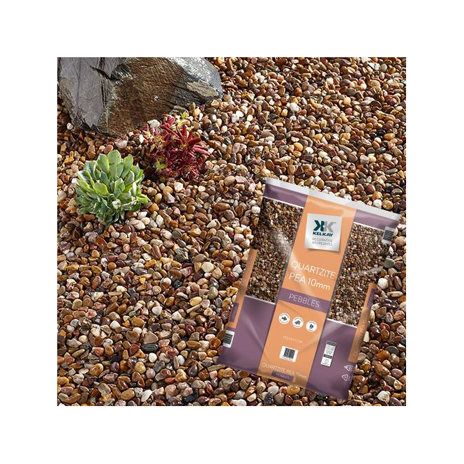 Click to view product details and reviews for Kelkay Quartzite Pea Gravel 10mm Bulk Bag.
