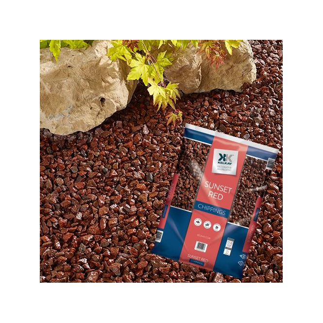 Click to view product details and reviews for Kelkay Sunset Red Chippings Bulk Bag.
