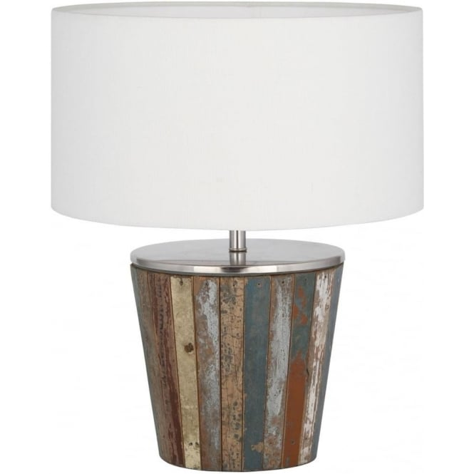 Click to view product details and reviews for Kerala Reclaimed Wood Complete Table Lamp 44cm.