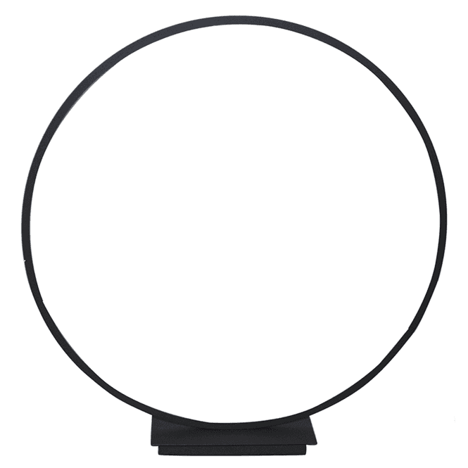 Click to view product details and reviews for Large Black Led Circle Table Lamp.
