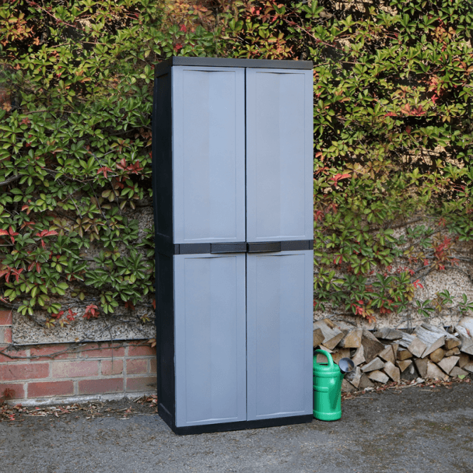 Click to view product details and reviews for Toomax Large Garden Storage Cabinet Dark Grey.